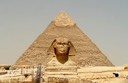 The Pyramid and Sphinx at Giza, Cairo