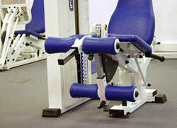 The leg extension machine